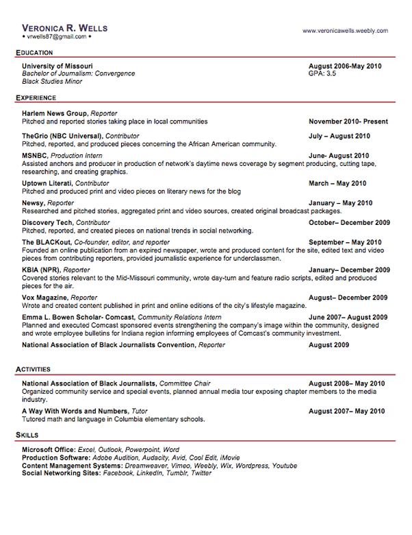 Professional Journalist Resume Examples It Can Be For Journalist Resume  Sample  Journalist Resume Sample